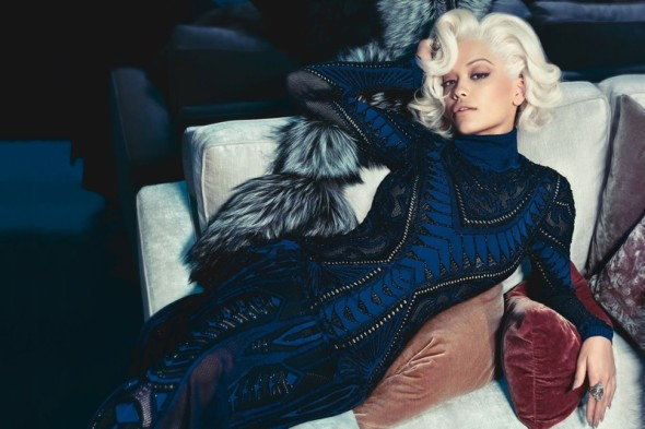 Rita Ora for Roberto Cavalli - channeling Marilyn Monroe for the fall-winter 2014 campaign