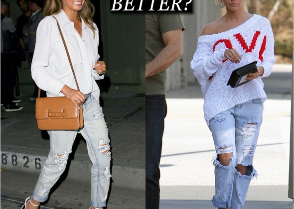 Who wore it better: Chrissy Teigen or Ashley Tisdale in One Teaspoon Awesome Baggies jeans