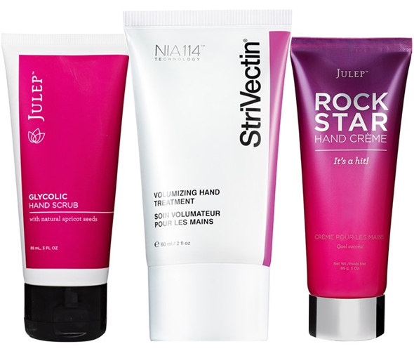 Winter hand care: Julep™ Facial for Hands, Julep™ 'Rock Star' Hand Crème, StriVectin SD Volumizing Spheres™ Hand Treatment