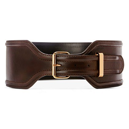 CROC EFFECT BELT IN BROWN, $29.99
