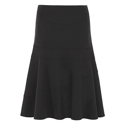 FLOUNCE SKIRT IN BLACK, $34.99