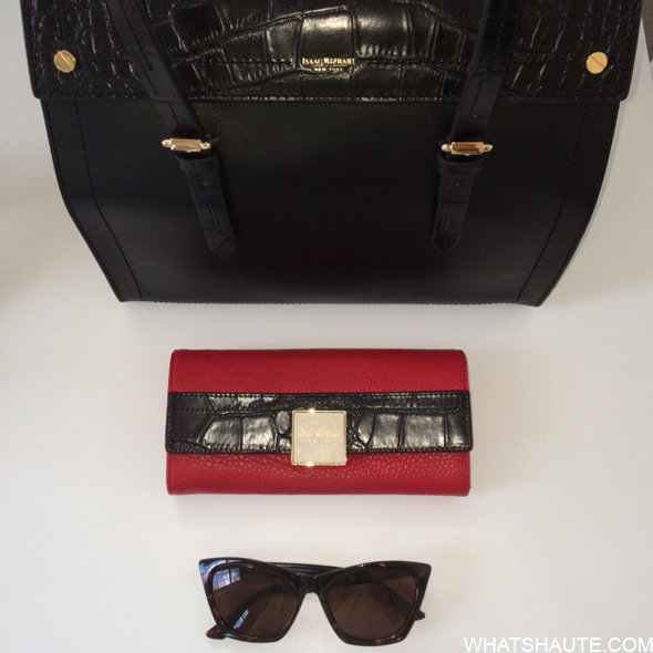 Isaac Mizrahi bags and sunglasses at the Band Aid launch