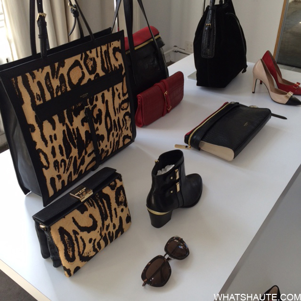 Isaac Mizrahi accessories at Band Aid launch