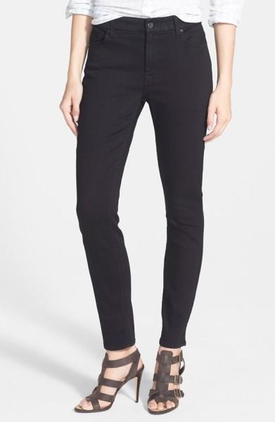 Jen7 Stretch Skinny Jeans overdye black