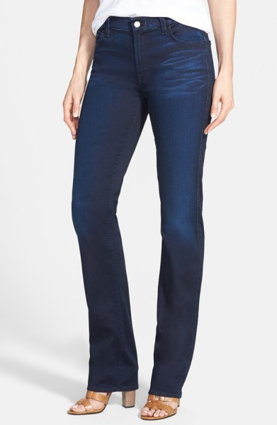 Jen7 Stretch Straight Leg Jeans blue
