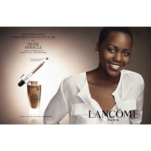 Lupita Nyong'o's Lancôme ad