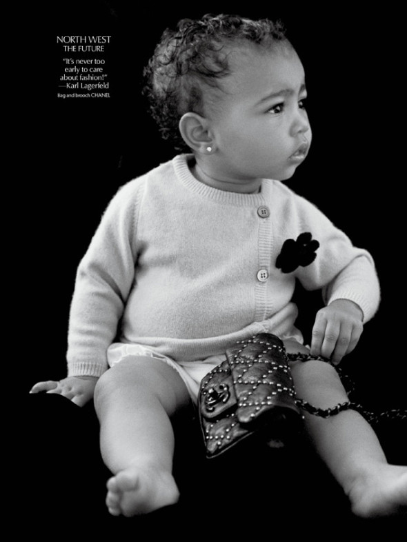 North West  draped in Chanel for CR Fashion Book