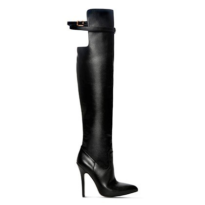 OVER-THE-KNEE BOOT IN BLACK, $79.99