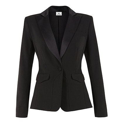 PEPLUM BLAZER IN BLACK, $54.99