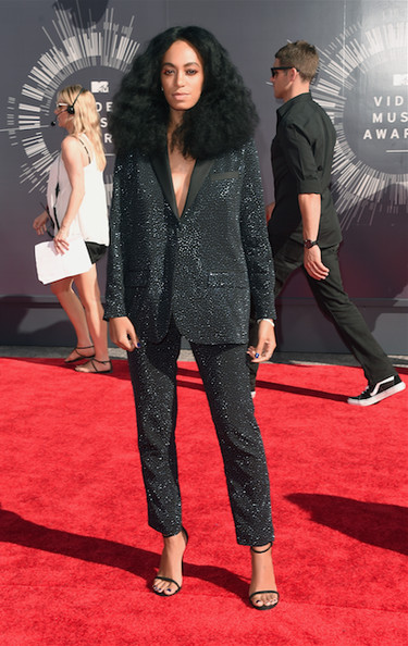 Solange Knowles in an H&M Studio Collection suit
