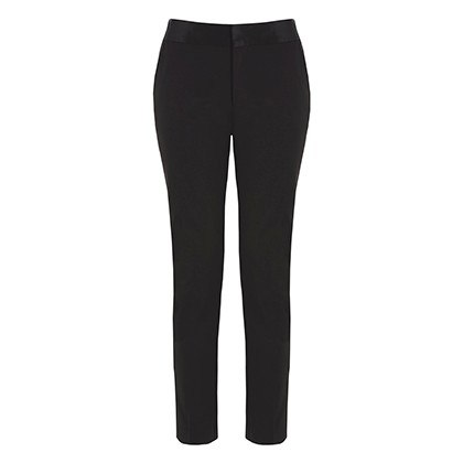 TUXEDO ANKLE PANT IN BLACK, $34.99