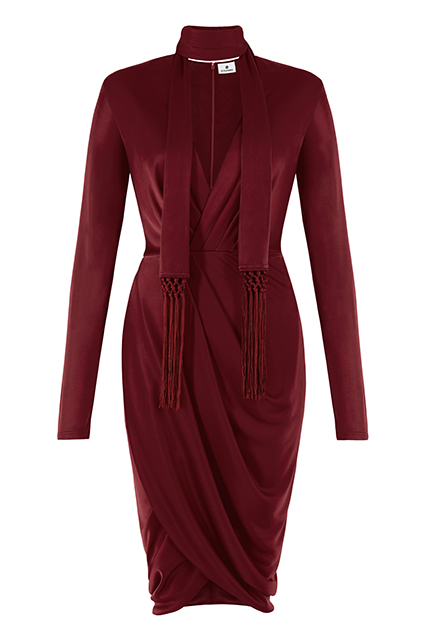 WRAP DRESS IN RED, $39.99