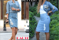 Who wore it better: Rihanna or Beyonce in Double Denim Chanel brooches and nude pumps