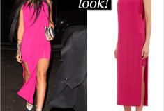 Rihanna pops in hot pink Helmut Lang!