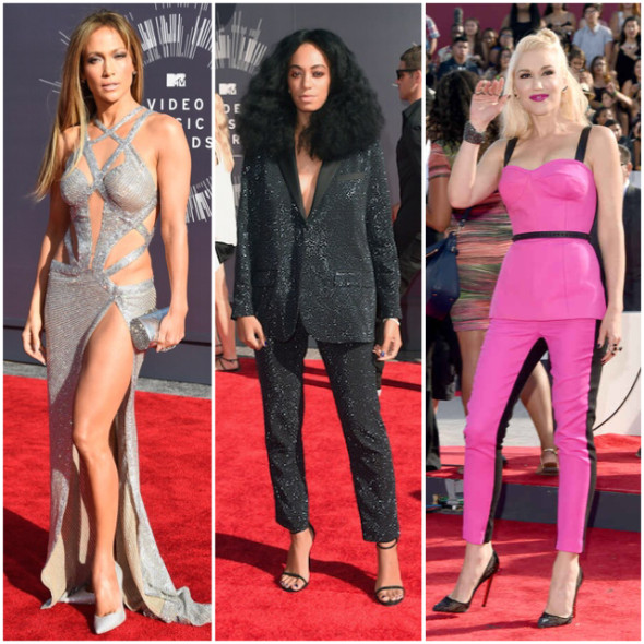 J. Lo, Solange and Gwen Stefani at the 2014 MTV VMAs