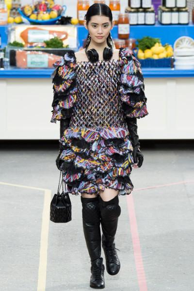 Chanel supermarket runway show - headphones