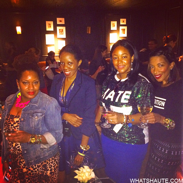 Fashion bloggers at the Lucky Magazine Movado Bold Arm Candy Party