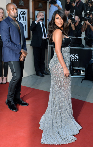 Kim Kardashian and Kanye West at the GQ Men of the Year Awards