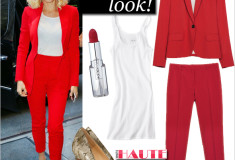 Get Gwen Stefani's red haute look!