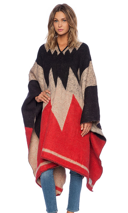 Brixton Barry Poncho Blanket