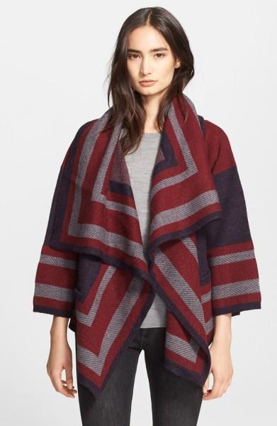 Burberry Brit Wool Blend Blanket Wrap