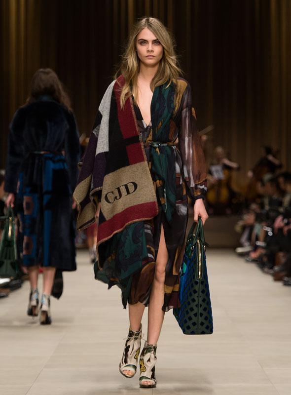 Cara Delevingne Burberry Prorsum Womenswear Autumn Winter 2014 Look 51