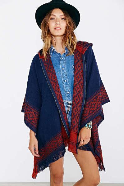 Ecote Blanket Poncho Jacket