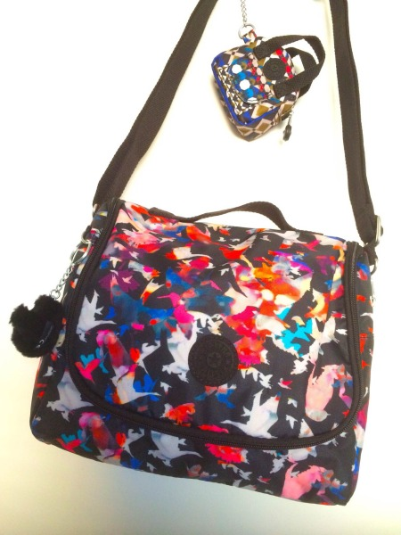 Kipling Kichirou Lunch Bag & Defea Printed Key Fob