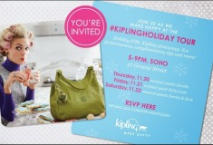 Join me in NYC at the #KiplingHoliday Tour!