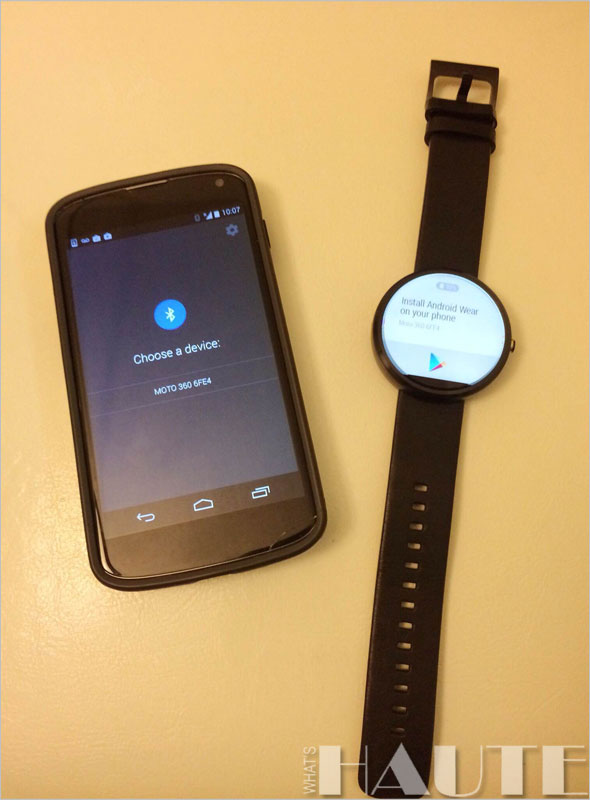 Moto 360 watch & Android phone