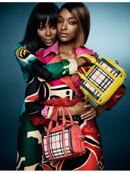 Naomi Campbell and Jourdann Dunn Burberry ad