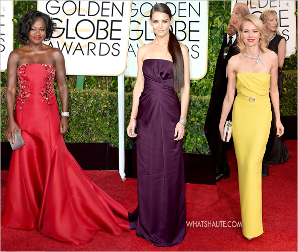 72nd 2015 Golden Globe Awards Viola Davis, Katie Holmes Naomi Watts