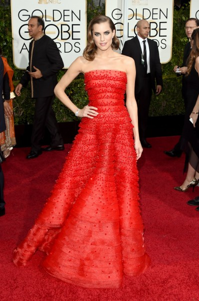 Allison Williams in Armani Privé