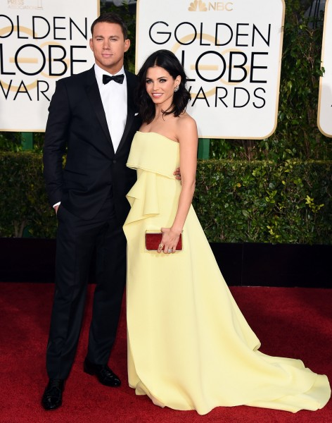 Channing Tatum and Jenna Dewan Tatum in Carolina Herrera