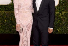Chrissy Teigen and John Legend 2015 Golden Globes