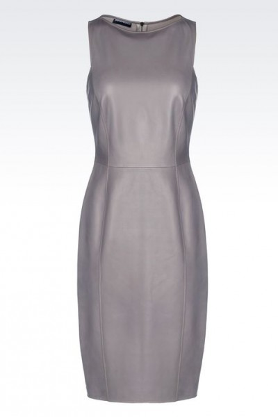 Emporio Armani Leather Sheath Dress