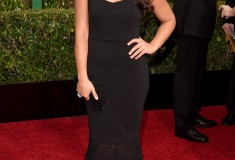 Gina Rodriguez in Badgley Mischka