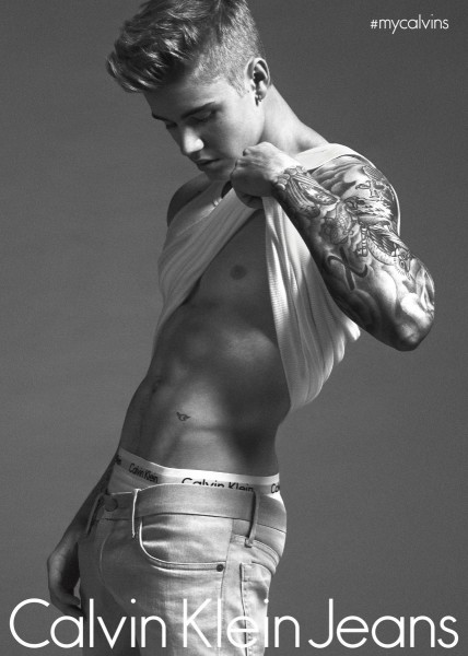 Justin Bieber Calvin Klein jeans ad campaign