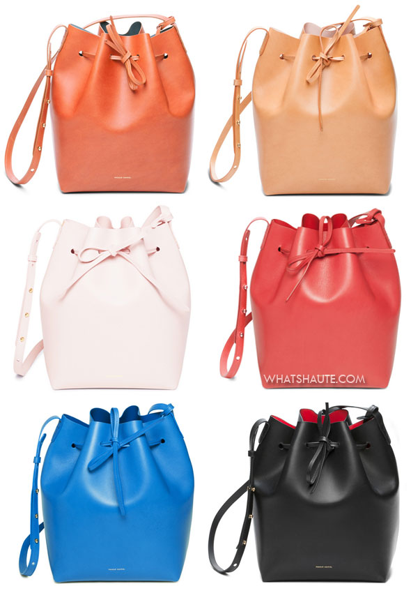 the Bag of the Moment: MANSUR GAVRIEL Leather bucket bags