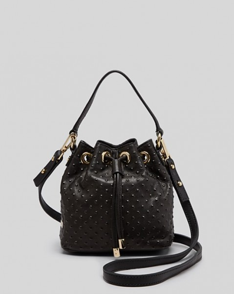 MILLY Crossbody - Perry Dot Mini Drawstring Studded Bucket