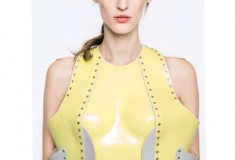 Marina Hoermanseder yellow bustier