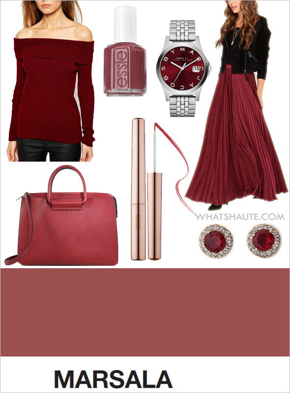 14 Ways to Wear Marsala - the Color of the Year