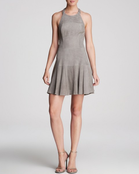Parker Dress - Suede Leona Halter