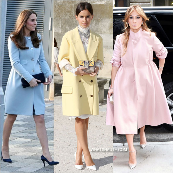 32 Pastel Coats to Rock the Rest of this Winter: Kate Middleton, Mira Duma and Jennifer Lopez