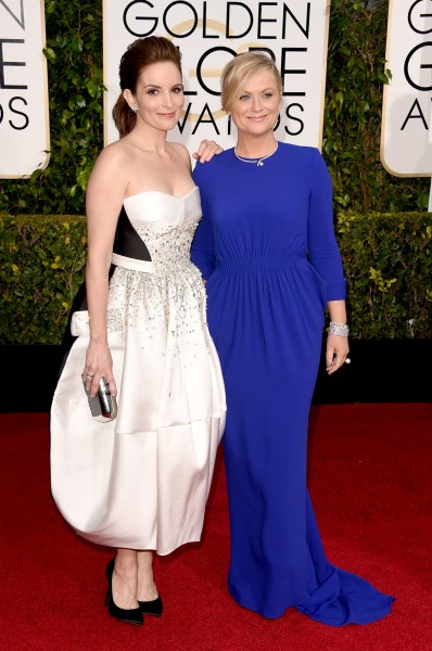 Tina Fey in Antonio Berardi and Amy Poehler in Stella McCartney