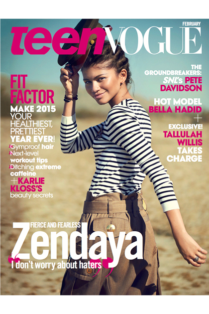 Zendaya on Teen Vogue cover