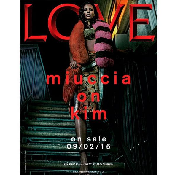 Kim Kardashian covers LOVE Magazine