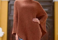 Autumn Splendor Women's Alpaca Wool Poncho