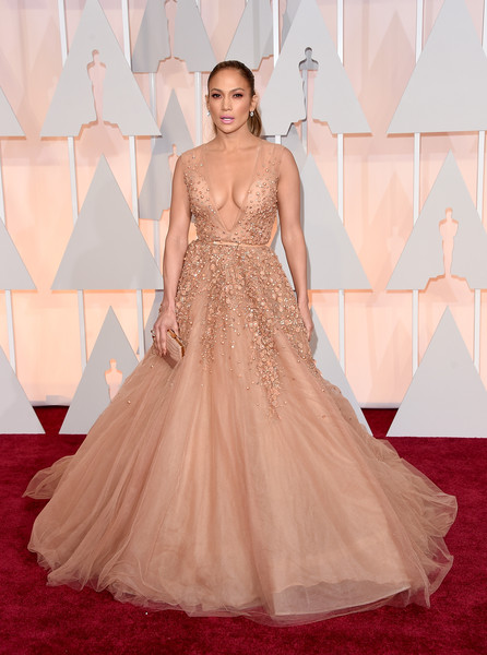 Jennifer Lopez in Elie Saab at the 87th Annual Academy Awards
