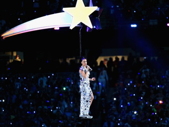 Katy Perry performs at the Pepsi Super Bowl XLIX Halftime Show